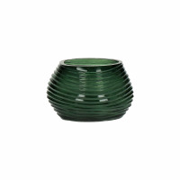 TURIN - T/light - glass / glass - DIA 14 x H 9 cm - green