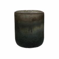 KUMPARE - vase - verre - DIA 13 x H 15 cm - noir