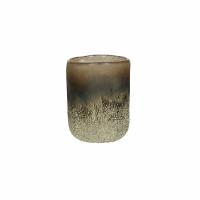 KUMPARE - vase - verre - DIA 8 x H 10 cm - argent