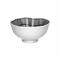 FRACTALE - kom - porselein - DIA 12 x H 6 cm - zwart/wit