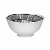 FRACTALE - kom - porselein - DIA 15 x H 7 cm - zwart/wit