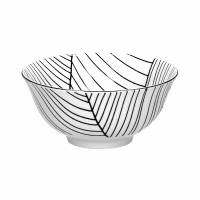 NAISSANCE - soep kom - porselein - DIA 15 x H 7 cm - zwart/wit