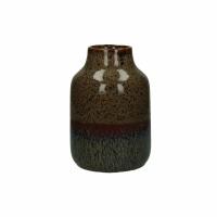 CAYUN - vase - céramique - DIA 13 x H 20 cm - brun