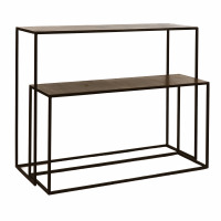 FINESSE - set/2 consoles - metal - L 95/100 x W 28/30 x H 49/78 cm - copper
