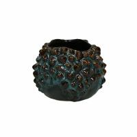 BALINE - vase - faïence - DIA 10,5 x H 8,5 cm - aqua