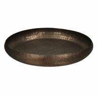 LUNA - dienblad - aluminium - DIA 43 x H 6,5 cm - koper
