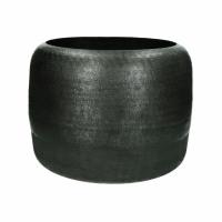 LUNA - vase - aluminium - DIA 33 x H 26 cm - anthracite
