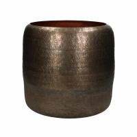 LUNA - vase - aluminium - DIA 24 x H 24 cm - cuivre