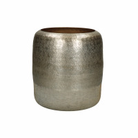 LUNA - vase - aluminium - DIA 19 x H 21 cm - or