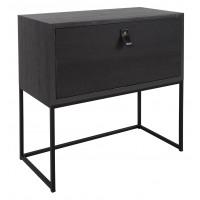 TOKIO - console  - placage - L 60 x W 30 x H 60 cm - noir