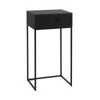 TOKIO - console with drawer - veneer - L 40 x W 30 x H 80 cm - black