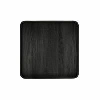 DENVER - plateau - placage - L 39,5 x W 39,5 x H 2 cm - noir