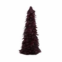 FIGARO - arbre de Noël - plumes - H 35 cm - bordeaux