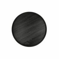 DENVER - plateau - placage - DIA 44 x H 2 cm - noir