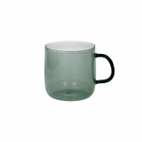 LASI - boîte/4 tasses - verre - DIA 8,5 x H 8 cm - noir