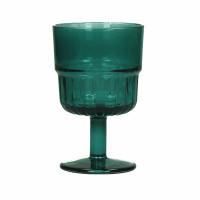 PANAMA - wijnglas - glas - DIA 8 x H 13 cm - teal