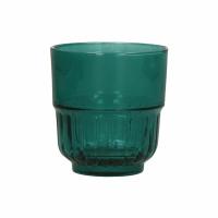 PANAMA - waterglas - glas - DIA 8 x H 8,5 cm - teal