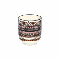 BRAHMA - gobelet - porcelaine - DIA 7 x H 8,5 cm - multicolore