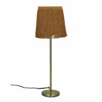 FROU' - lampe - fer / coton - DIA 14 x H 47 cm - ambre