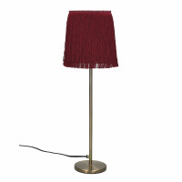 FROU' - lampe - fer / coton - DIA 14 x H 47 cm - bordeaux