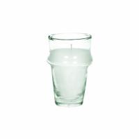 MITI - glas m/wax - glas / wax - DIA 6 x H 10,5 cm - transparant