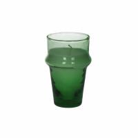 MITI - glas m/wax - glas / wax - DIA 6 x H 10,5 cm - groen