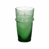 MITI - glas m/wax - glas / wax - DIA 7,4 x H 13 cm - groen