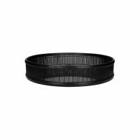 SHADOW - dienblad/spiegel - bamboe / spiegelglas - DIA 49,5 x H 10 cm - zwart