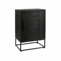 DURBAN  - cupboard - pine - L 55 x W 40 x H 85 cm - black