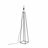 KIPS BAY - vloerlamp voet - metaal - L 25 x W 25 x H 135 cm - zwart