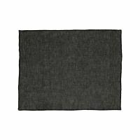 CHAMBRAY - set/4 placemats - linen / cotton - L 33 x W 48 cm - black