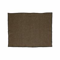 CHAMBRAY - set/4 placemats - linen / cotton - L 33 x W 48 cm - brown