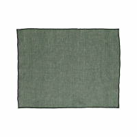 CHAMBRAY - set/4 placemats - linen / cotton - L 33 x W 48 cm - green