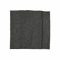 CHAMBRAY - set/2 table runners - linen / cotton - L 150 x H 40 cm - black