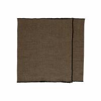 CHAMBRAY - set/2 tafellopers - linnen / katoen - L 150 x H 40 cm - bruin