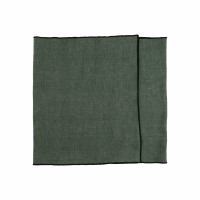CHAMBRAY - set/2 sets de table - lin / coton - L 150 x H 40 cm - vert