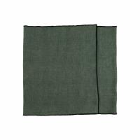 CHAMBRAY - set/2 tafellopers - linnen / katoen - L 150 x H 40 cm - groen