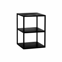 ESZENTIAL - bijzettafel/rek - metaal - L 30 x W 30 x H 40 cm - zwart