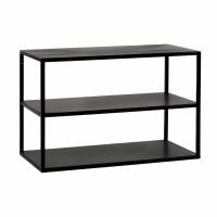ESZENTIAL - bijzettafel/rek - metaal - L 60 x W 30 x H 40 cm - zwart