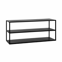 ESZENTIAL - coffee table/rack - metal - L 90 x W 30 x H 40 cm - black