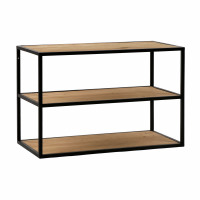 ESZENTIAL - coffee table/rack - wood - metal - L 60 x W 30 x H 40 cm - natural/black