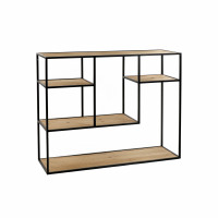 ESZENTIAL - rack - wood - metal - L 100 x W 30 x H 80 cm - natural/black
