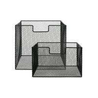 ESZENTIAL - set/2 manden - ijzer - L 31,5 x  W 29,5 x H 27,5/17,5 cm - zwart