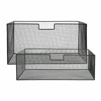 ESZENTIAL - set/2 manden - ijzer - L 56/55 x  W 30/29 x H 27,5/17,5 cm - zwart