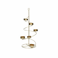 PILARA - T/light holder - iron - DIA 17 x H 50 cm - gold