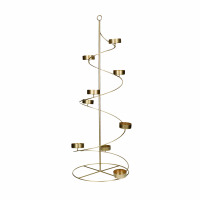 PILARA - T/light holder - iron - DIA 24 x H 70 cm - gold