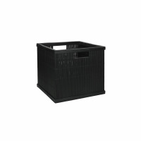 SHADOW - mand - bamboe - L 31 x  W 29,5 x H 27,5 cm - zwart