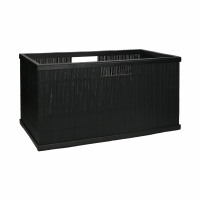 SHADOW - mand - bamboe - L 56 x  W 29,5 x H 28 cm - zwart