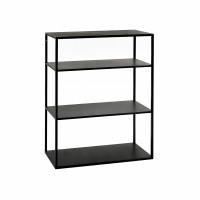 ESZENTIAL - étagère - métal - L 60 x W 30 x H 80 cm - noir