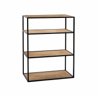 ESZENTIAL - rack - wood - metal - L 60 x W 30 x H 80 cm - natural/black